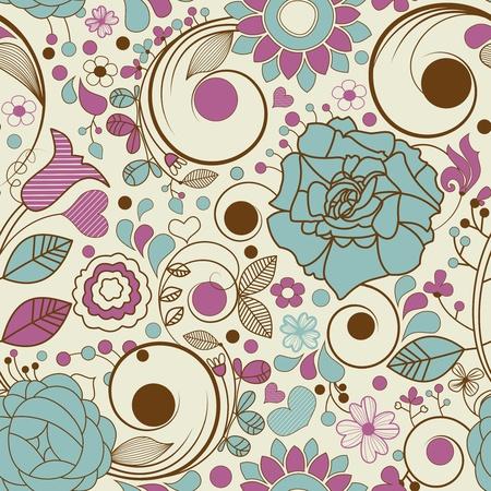 papel tapiz turquesa: Sin patrón Retro Vectores