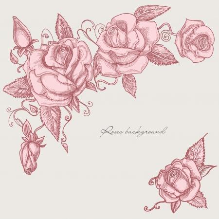 Roses corner ornaments