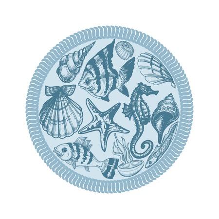 Sea animals Stock Vector - 13459114