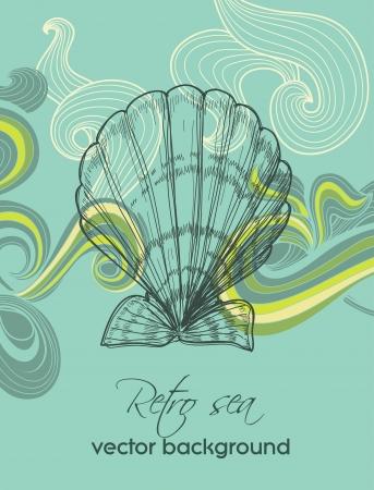 Retro sea background Stock Vector - 13941242