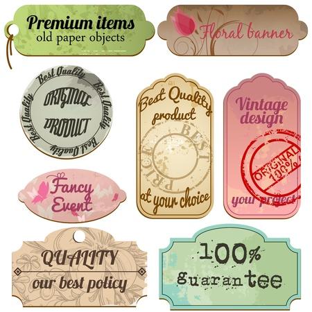old stamp: Vintage labels set Illustration
