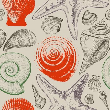 conchas: Conchas de mar sin patr�n retro