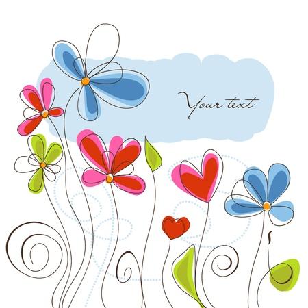 Floral background vector illustration  Ilustração