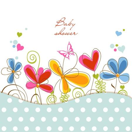 invitacion baby shower: Baby Shower de flores