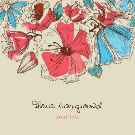 lily flower: bloemen Stock Illustratie