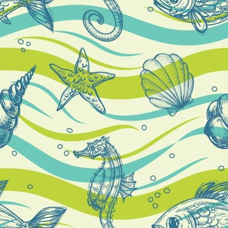 Sea vector pattern Vector
