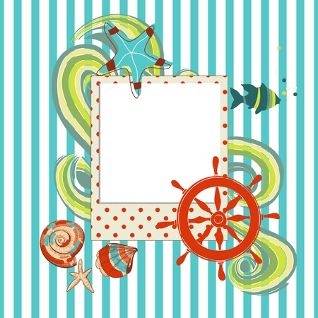 timone: Scrapbook marino con photo frame