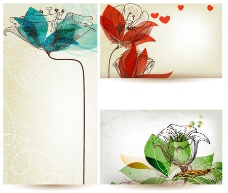 Vintage floral backgrounds Vector