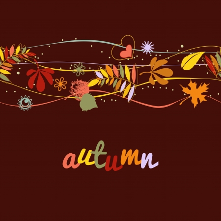 agriculture wallpaper: Autumn background seamless pattern