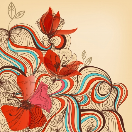 gaza: Vector floral de fondo
