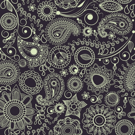 swirly: Vector floral paisley pattern  Illustration
