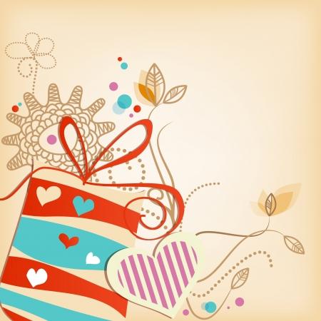 verjaardag frame: Gift vector achtergrond