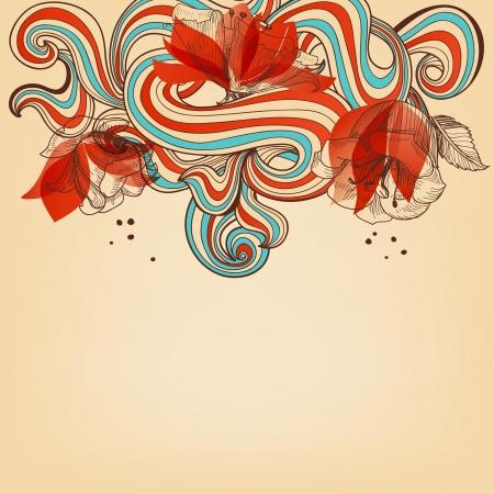 taper: Beautiful romantic floral background  illustration  Illustration