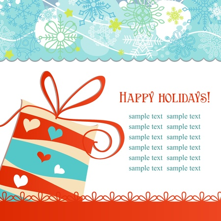 stationery borders: Christmas gift box festive background vector