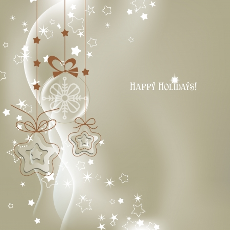 adorning: Silver Christmas background vector  Illustration