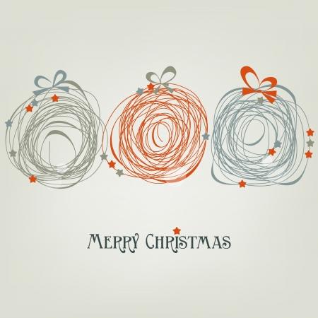 かわいいクリスマス カードの抽象的な装飾  イラスト・ベクター素材
