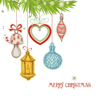 Christmas card vector illustration  Vector