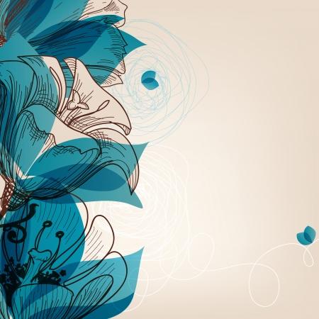 adorn: blue flower background