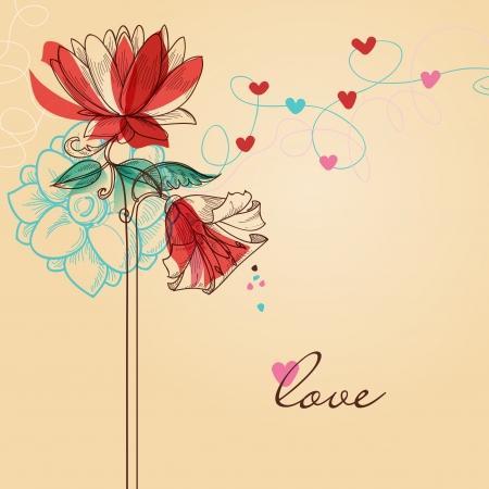 valentin: Valentines day greeting card love message