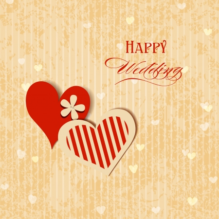 Wedding hearts greeting card  Vector