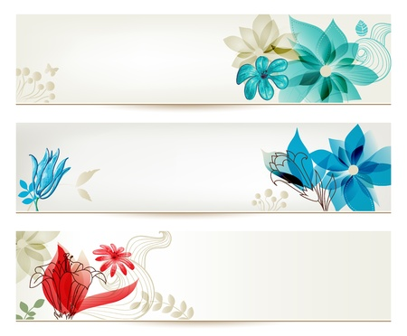 Beauty flower banners