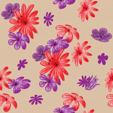 wallflower: Cute floral seamless pattern