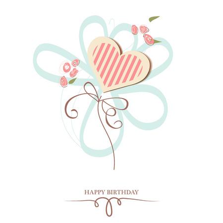 happy birthday: Happy birthday heart