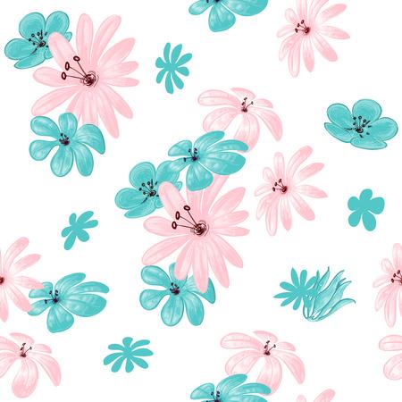 Flower seamless pattern for print  Vector
