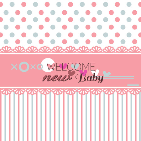 Cute welcome baby shower  Illustration