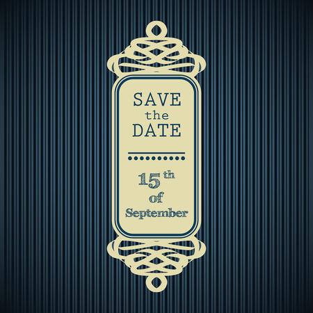 azul marino: Guarde el marco de la fecha