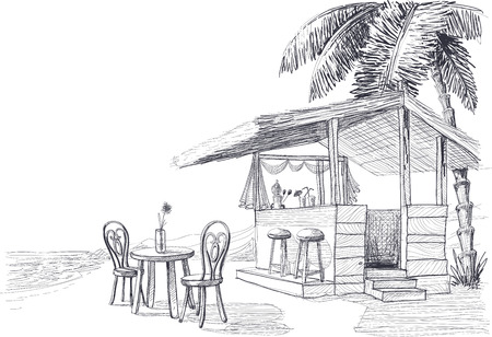 beach bar: Beach bar sketch