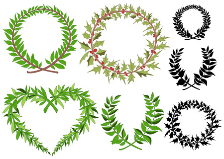wreaths: Laurel wreaths set