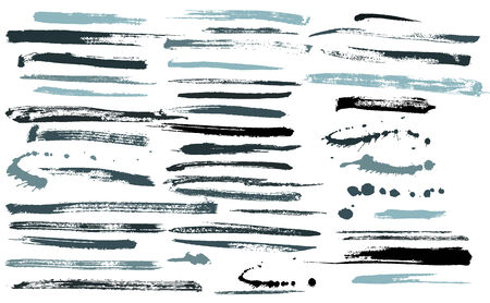 Set of grunge brushes  ink strokes vector Vector