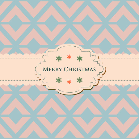 Retro elegant Christmas card seamless pattern in background Vector