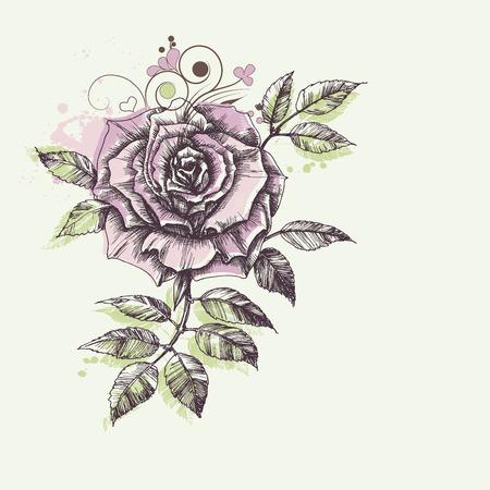 womanlike: Rose flower foliage corner decoration