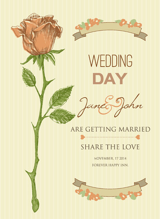 vertical dividers: Wedding invitation template  bridal shower