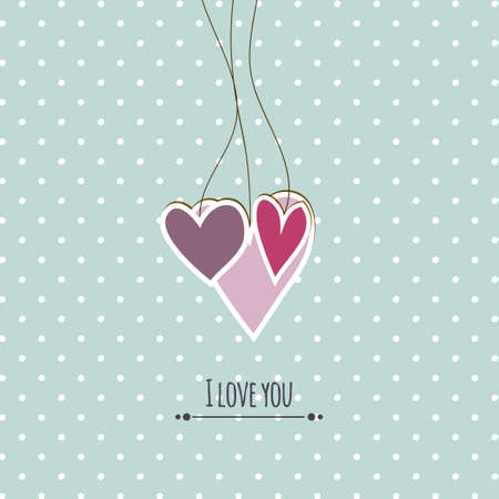 hearts background: Cute hearts background Illustration
