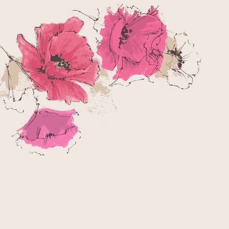Artistic floral background
