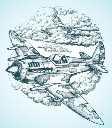 aereo: Aereo nel round icona cielo