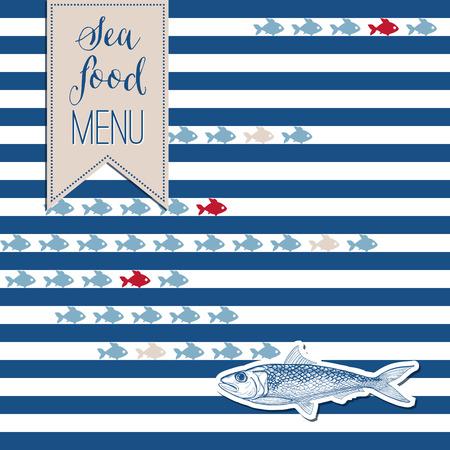 marine: Marine background with fish