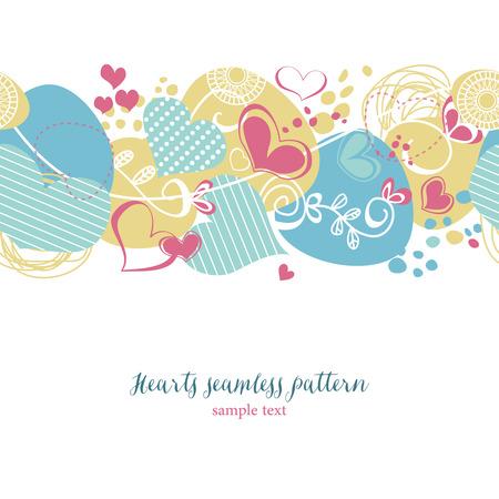seamless pattern: Decorative hearts seamless pattern