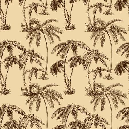 Palmbomen naadloos patroon