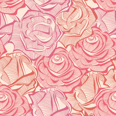 wallflower: Roses seamless pattern, rose stems texture