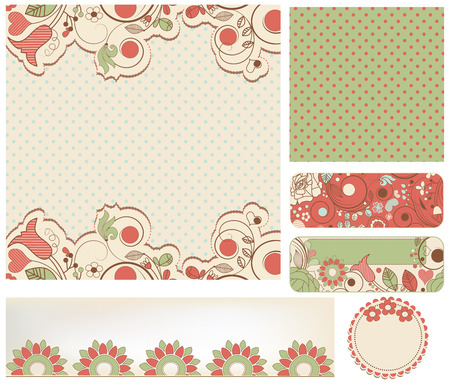 stationery set: Retro wedding stationery set Illustration