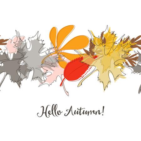 fall leaves: Fall leaves seamless pattern