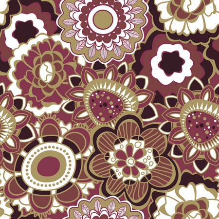 trendy: Floral seamless pattern in trendy marsala colors