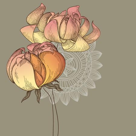 taffy: Floral greeting card