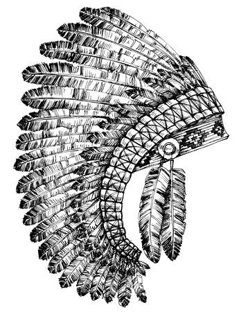native american headdress: Indian feathers headdress