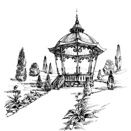 garden patio: Gazebo in the park