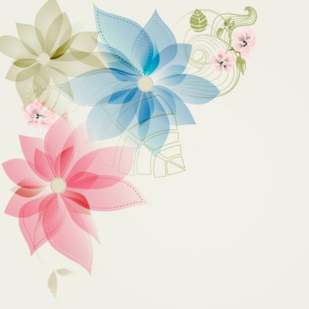 Floral corner card
